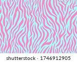 colorful zebra seamless pattern.... | Shutterstock .eps vector #1746912905