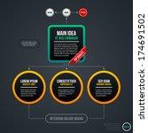 organizational chart template.... | Shutterstock .eps vector #174691502