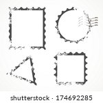 postcard stamp free vector art 3149 free downloads