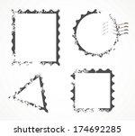 postcard stamp free vector art 3151 free downloads