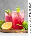 Cold Sparkling Hibiscus Tea...