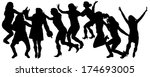 vector silhouettes of people... | Shutterstock .eps vector #174693005