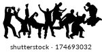vector silhouettes of people... | Shutterstock .eps vector #174693032