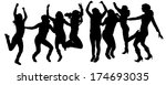 vector silhouettes of people... | Shutterstock .eps vector #174693035