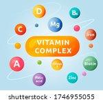 vitamin complex cartoon vector... | Shutterstock .eps vector #1746955055