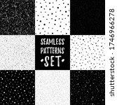 set  collection of black and... | Shutterstock .eps vector #1746966278