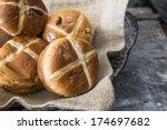 easter hot cross buns   Shutterstock . vector #174697682