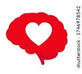 heart inside the human brain....   Shutterstock .eps vector #1746978542