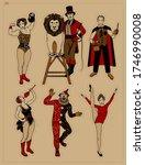 circus stars collection. circus.... | Shutterstock . vector #1746990008
