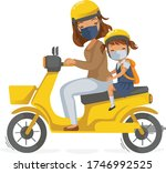 children in uniform on... | Shutterstock .eps vector #1746992525