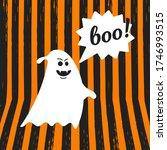 boo ghost halloween message...   Shutterstock .eps vector #1746993515