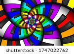 Unusual Abstract Rainbow Piano...