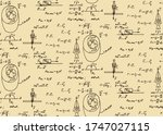 physical equations in vintage... | Shutterstock .eps vector #1747027115