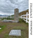 Small photo of South Georgia, Grytviken, December 18, 2019: Graves of Frank Wild and Sir Ernest Shackleton. Two Antarctic explorers of the heroic age of exploration.