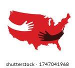 vector map of north america... | Shutterstock .eps vector #1747041968