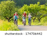 family with three girls having... | Shutterstock . vector #174706442