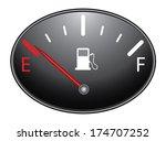 round fuel indicator... | Shutterstock . vector #174707252