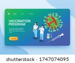 vaccination isometric web site...