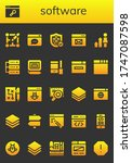 software icon set. 26 filled...