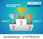 trophies placed on the ranking... | Shutterstock .eps vector #1747093232