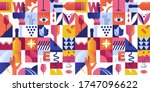 abstract seamless pattern with... | Shutterstock .eps vector #1747096622