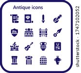 antique icon set. 16 filled... | Shutterstock .eps vector #1747102052