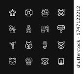 editable 16 paw icons for web... | Shutterstock .eps vector #1747122212