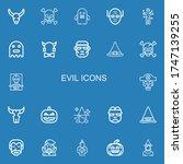 editable 22 evil icons for web...   Shutterstock .eps vector #1747139255