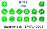 editable 14 spider icons for...   Shutterstock .eps vector #1747140005