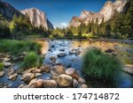 typical view of the yosemite... | Shutterstock . vector #174714872