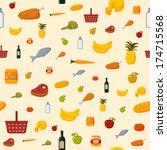 supermarket food items seamless ... | Shutterstock .eps vector #174715568