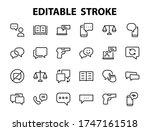 simple set of message line... | Shutterstock .eps vector #1747161518