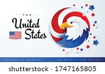 united states patriotic... | Shutterstock .eps vector #1747165805