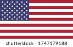 national flag of united states... | Shutterstock . vector #1747179188