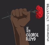 justice for george floyd. human ... | Shutterstock .eps vector #1747197788