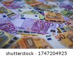 Close Up Of Euro Money Bills ...