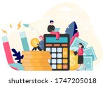 money and income attraction.... | Shutterstock .eps vector #1747205018
