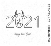 chinese new year. 2021 new year.... | Shutterstock .eps vector #1747214138