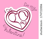 be my valentine  | Shutterstock .eps vector #174722006