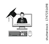 online education and study. web ... | Shutterstock .eps vector #1747251698