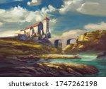 Landscape With Medieval Castle...