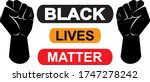 black lives matter icon on... | Shutterstock .eps vector #1747278242