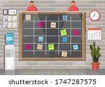 scrum agile board in office...   Shutterstock .eps vector #1747287575