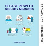 security measures for crisis... | Shutterstock .eps vector #1747294718