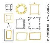 golden and black vector frames. ... | Shutterstock .eps vector #1747308602