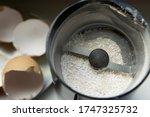 Grinding Eggshells To An...