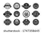 beer logos set. monochrome... | Shutterstock .eps vector #1747358645