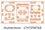 asian decorative frames set.... | Shutterstock .eps vector #1747358768