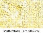 Gold Halftone Pattern. Yellow...