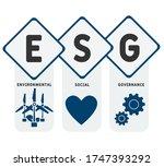 esg concept of environmental ... | Shutterstock .eps vector #1747393292